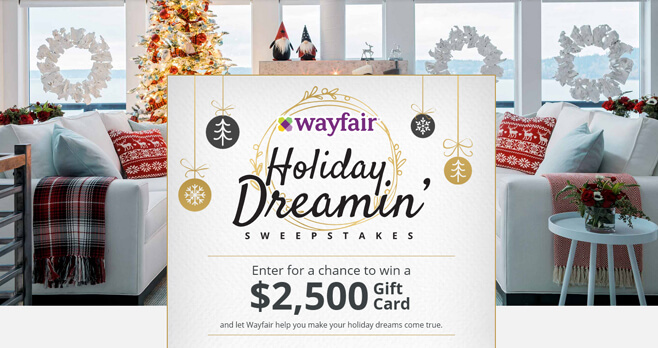 HGTV and Wayfair Holiday Dreamin Giveaway 2017