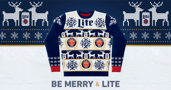 Miller Lite Ugly Sweater Instant Win Game 2017