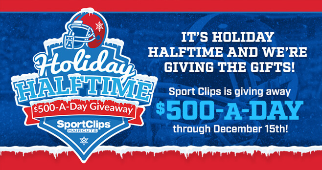 Sport Clips Holiday Halftime Sweepstakes 2017