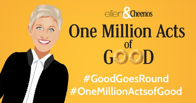 Ellen & Cheerios One Million Acts of Good Sweepstakes
