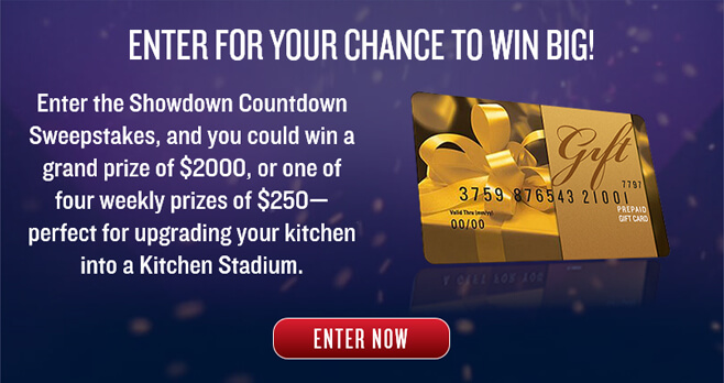 Food Network Iron Chef Showdown Countdown Sweepstakes