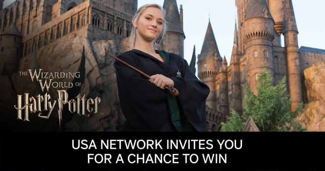 USA Network Universal Parks Sweepstakes 2017