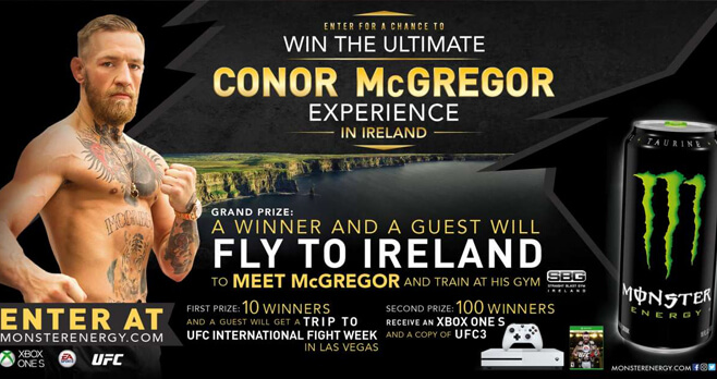 Monster Energy Conor McGregor Experience Sweepstakes 2018