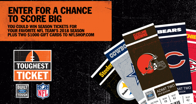 NFL and Ford Toughest Ticket Season Ticket Giveaway 2018