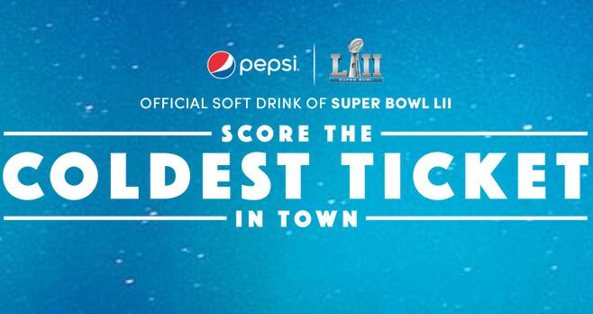 Pepsi Super Bowl LII Sweepstakes 2018 (SB52Pepsi.com)