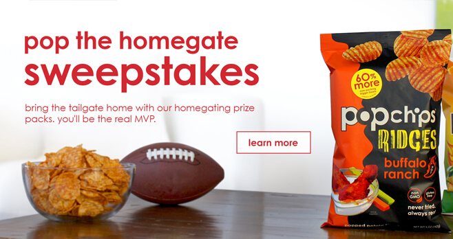 Popchips Pop The Homegate Sweepstakes 2018