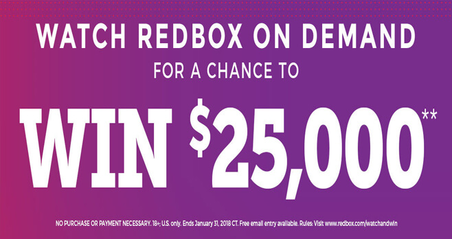 Redbox On Demand Watch & Win Sweepstakes 2018