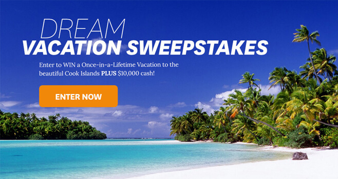 BHG Dream Vacation At Cook Islands Sweepstakes 2018