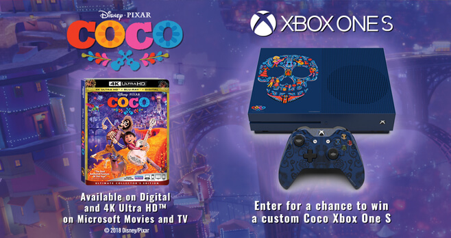 Coco Xbox One S Custom Console Sweepstakes