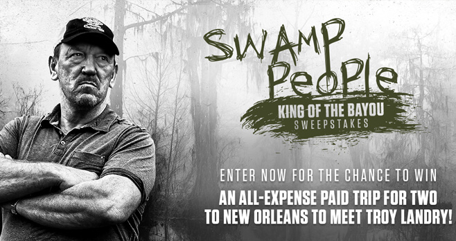 History Channel Swamp People: King Of The Bayou Sweepstakes