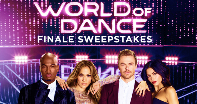 NBC World of Dance Finale Sweepstakes 2018