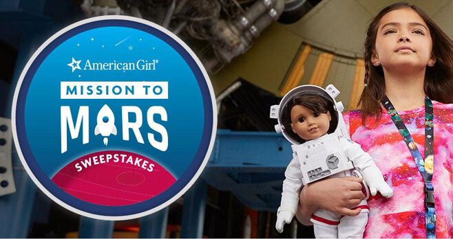 Scholastic and American Girl Mission to Mars Sweepstakes 2018