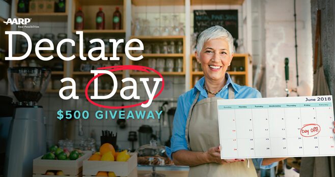 AARP Take A Day Giveaway 2018