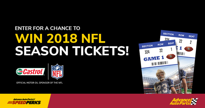 Castrol 2018 NFL Season Ticket Sweepstakes