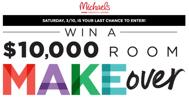 Michaels Room Makeover Sweepstakes 2018