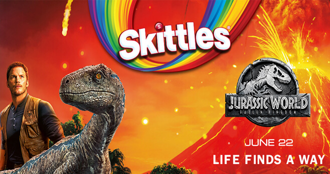 Skittles Jurassic World Fallen Kingdom Sweepstakes
