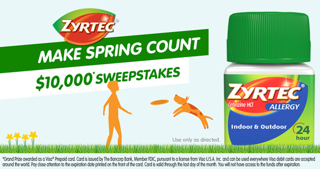 ZYRTEC Make Spring Count Sweepstakes