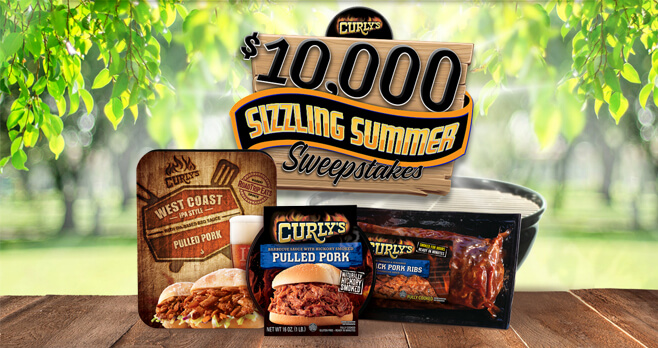 Curly's $10,000 Sizzling Summer Sweepstakes