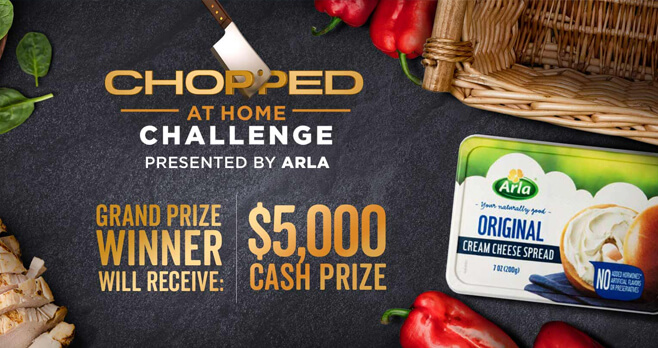 Food Network Chopped at Home Challenge 2018 (FoodNetwork.com/ChoppedChallenge)
