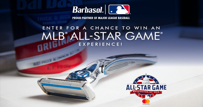MLB All-Star Game Experience Sweepstakes (MLB.com/Barbasol)