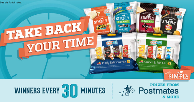 Simply Take Back Your Time Sweepstakes (SimplyTakeBackYourtime.com)
