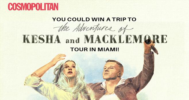 Cosmopolitan Kesha Miami Getaway Sweepstakes