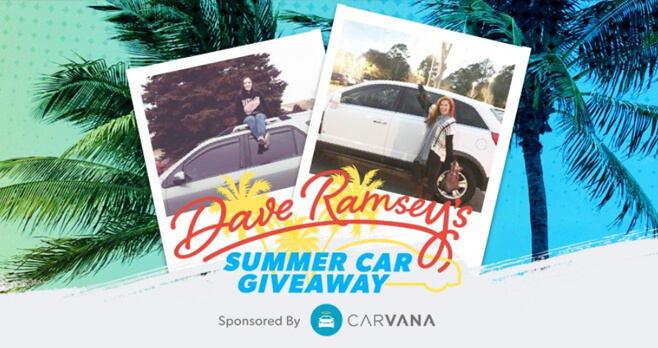 Dave Ramsey Summer Car Giveaway 2018