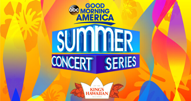Good Morning America Summer Concert Series Sweepstakes 2018