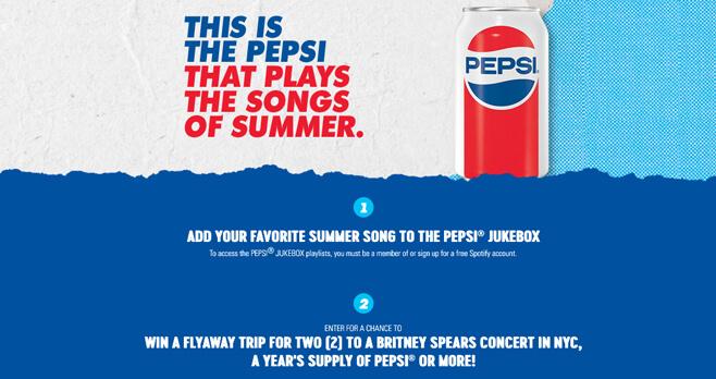 Pepsi Summer Playlist Sweepstakes