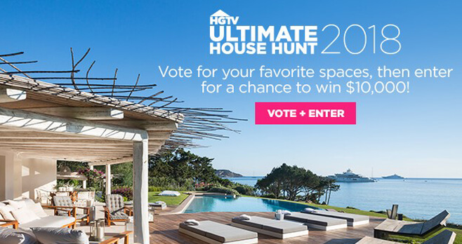 HGTV Ultimate House Hunt Sweepstakes 2018