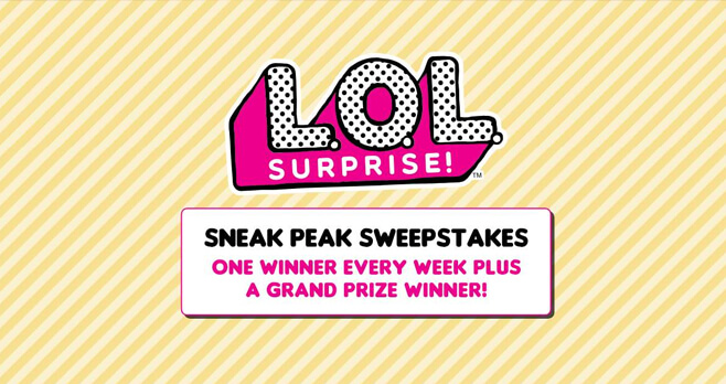 LOL Surprise Sneak Peek Sweepstakes