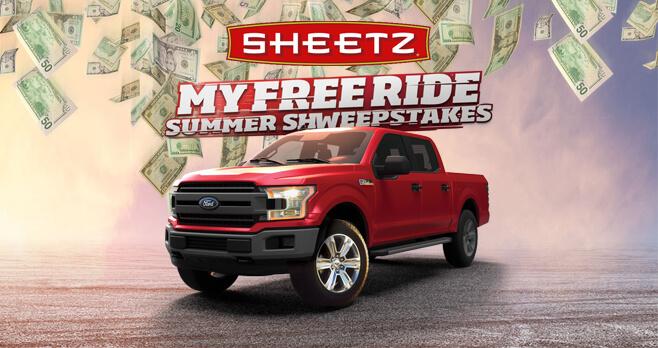Sheetz My Free Ride Sweepstakes