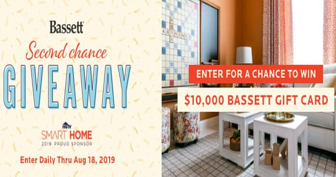 Bassett Furniture Second Chance Sweepstakes