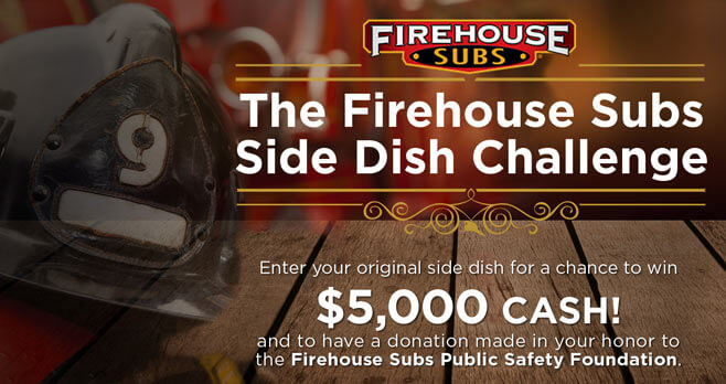 Food Network Firehouse Subs Side Dish Challenge Sweepstakes