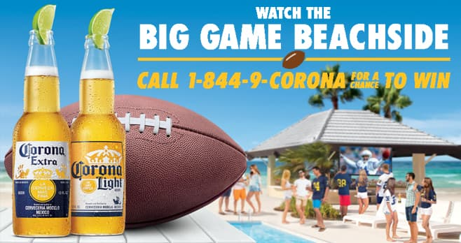 Corona Find Your Gameday Beach Sweepstakes