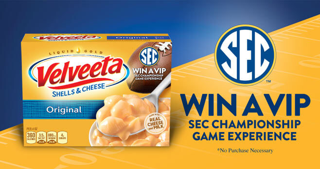 Velveeta SEC Instant Win And Sweepstakes