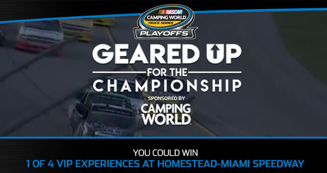 Nascar Camping World Geared Up For The Championship Sweepstakes