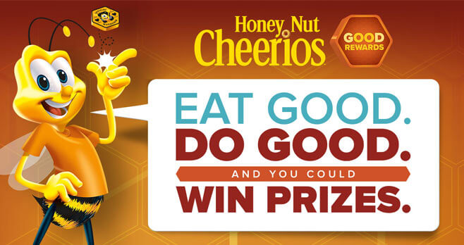 Honey Nut Cheerios Bee Good Rewards Sweepstakes and Instant Win