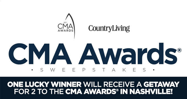 Country Living CMA Awards 2018 Sweepstakes
