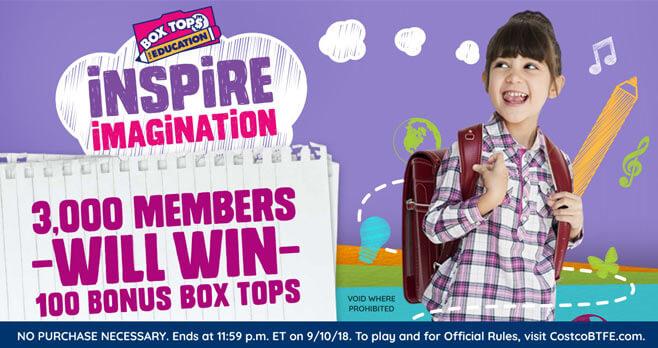 Costco Inspire Imagination Instant Win