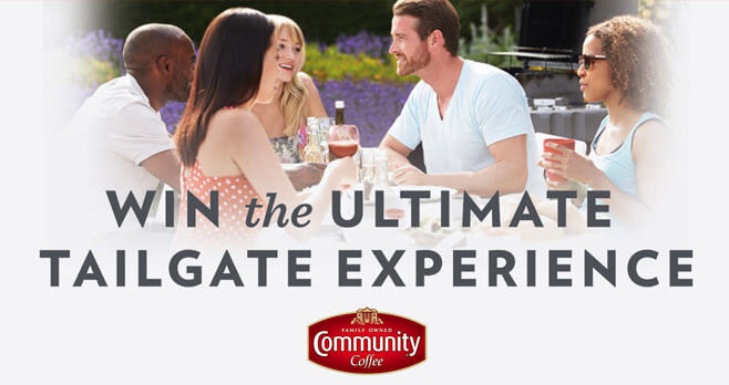 Community Coffee Tailgate Traditions Instant Win Game and Sweepstakes