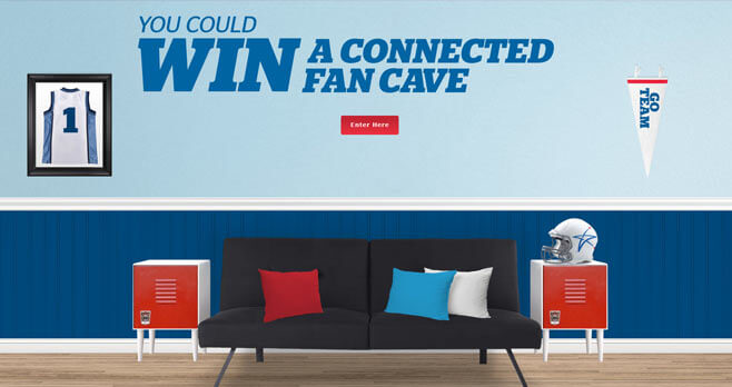 U.S. Cellular Connected Fan Cave Sweepstakes (ConnectedFanCave.com)