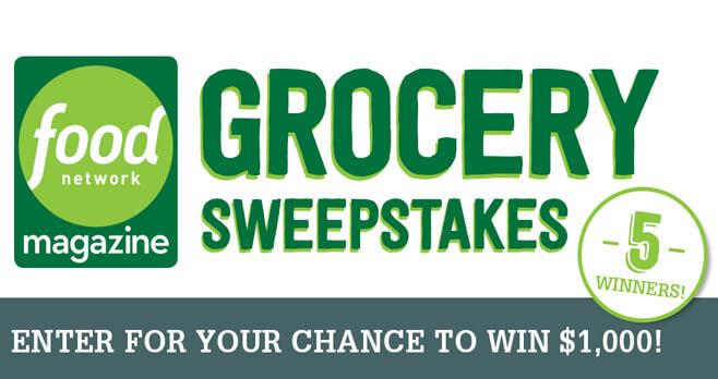 Food Network Magazine $5,000 Grocery Giveaway Sweepstakes