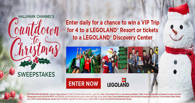 Hallmark Channel Countdown To Christmas Sweepstakes 2018