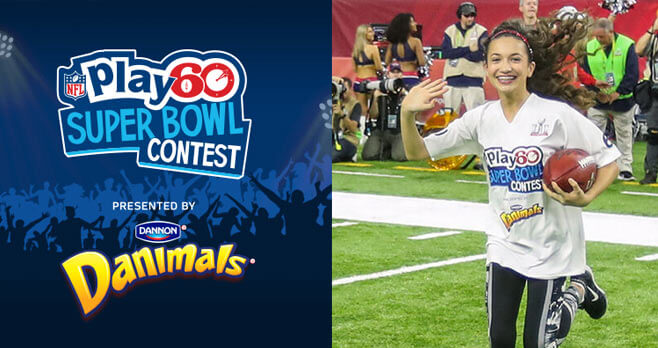 NFL PLAY 60 Super Kid Super Bowl Contest