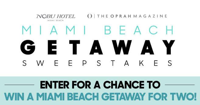 Oprah Magazine Miami Getaway Sweepstakes (oprah.com/miami)