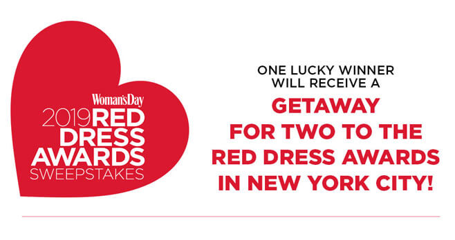 Woman's Day 2019 Red Dress Awards Sweepstakes
