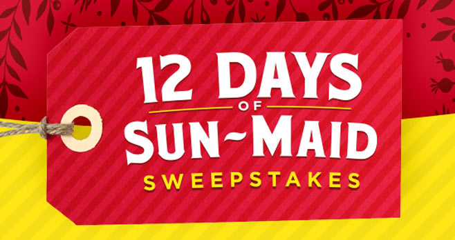 12 Days of Sun-Maid Sweepstakes