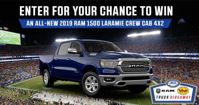 The ACC Truck Giveaway (TheACC.com/TruckGiveaway)
