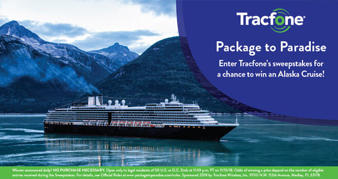 Tracfone Package to Paradise Sweepstakes